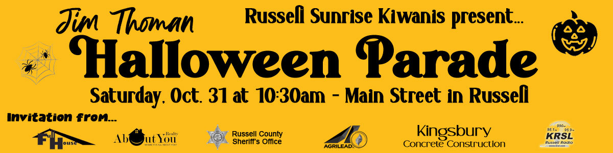 2020 Russell Halloween Parade Marquee