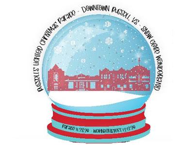 2020 Russell Christmas Parade Logo
