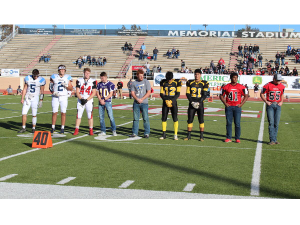 2020 Kansas 6-Man All-State Team in Dodge City. (Photo by Jodi Staggers.)