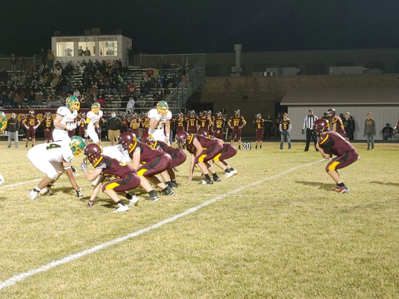 Victoria played St. Francis in the semifinals of the 8-Man Division II playoffs on Friday, Nov. 20 in Victoria. (Photo courtesy Mike Blanke.)