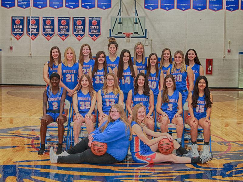 2020-21 RHS Lady Broncos Basketball Team