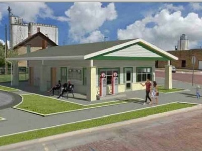 Downtown Restroom and Visitors Center Rendering