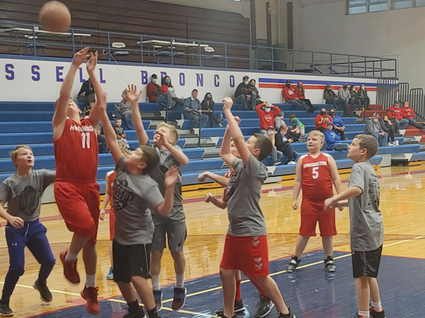 RRC youth basketball at Amos Morris Gym at Russell High School on Saturday, January 9.