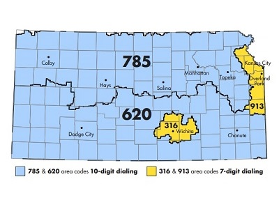 Kansas Area Codes