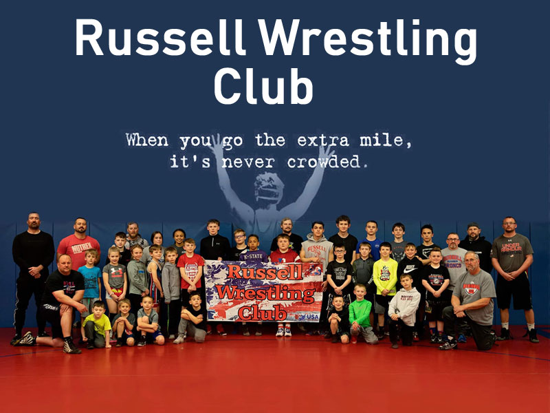 2020-21 Russell Wrestling Club members and coaches.