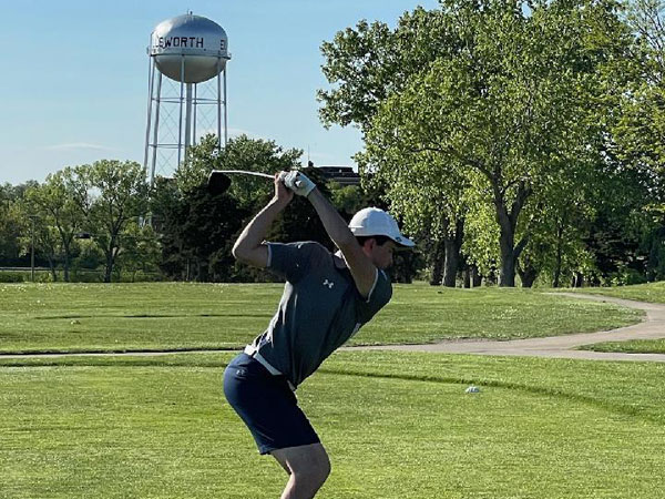 Russell's Cole Birky took second at the Ellsworth Invitational on Thursday, May 6. (Photo courtesy of Kim Birky)