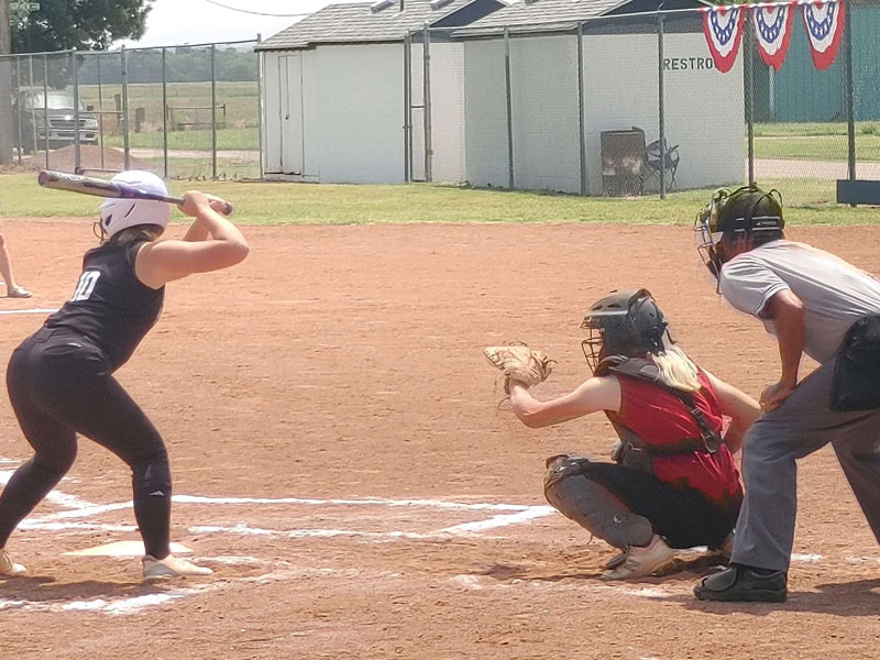 Russell played Rooks County in the first round of the K-18 State Fastpitch Softball Tournament in Lucas on Friday, July 16.