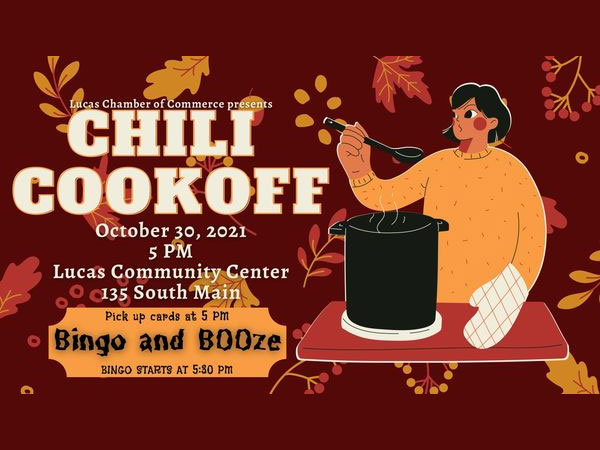 Lucas Chamber of Commerce Chili Cook-Off is Oct. 30