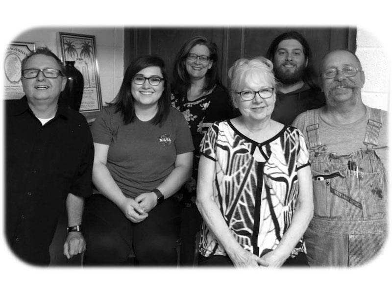 Cast photo from left: Alan Templeton, Monica Harrison, Sheryl Krug, Teressa Roe, Kiefer Craig and Bob Roe. (Photo courtesy of RCT)