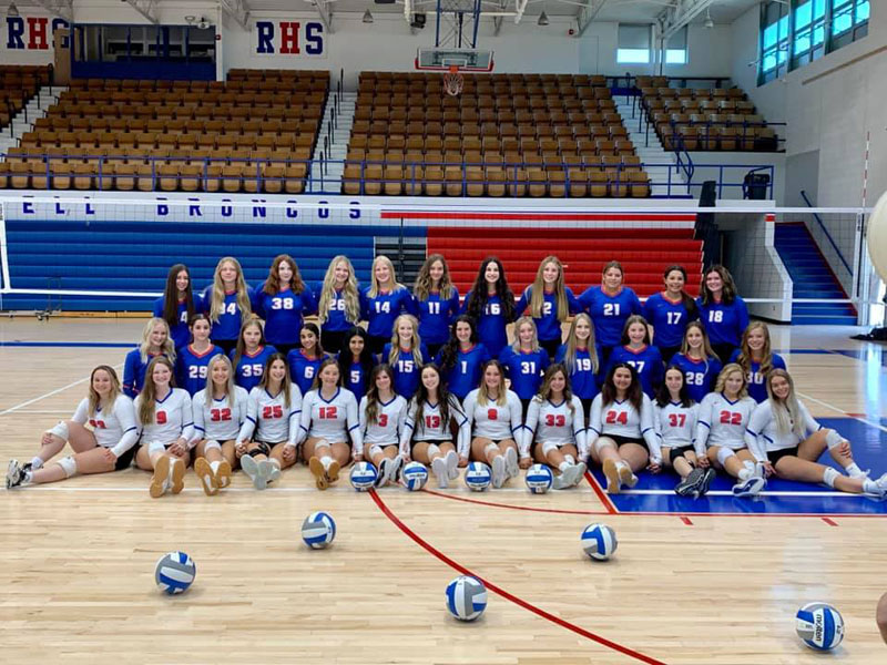 2021-22 Russell High School Volleyball Team