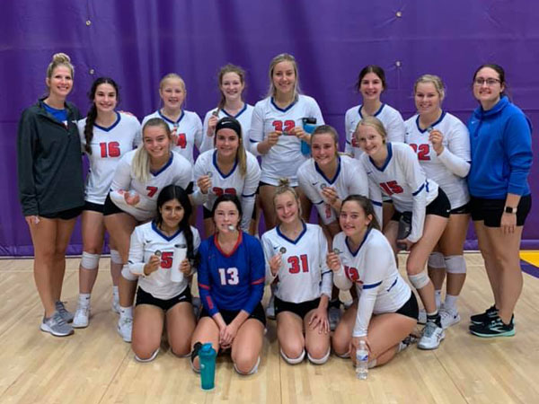 Lady Broncos went 4-1 and took second place at the Trego Invitational in WaKeeney on Saturday, Sept. 11. (Photo courtesy of RHS Volleyball Facebook Page)