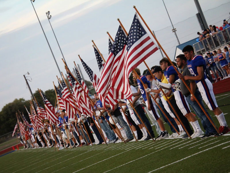 Russell High School hosted Hometown Heroes Night on Friday, Oct. 8 at Shaffer Field.