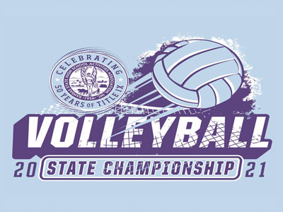 2021 KSHSAA State Volleyball Logo