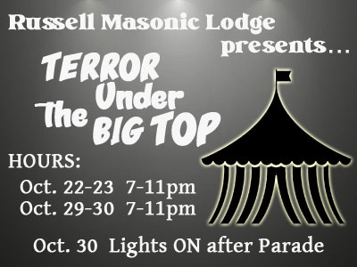 """Are you BRAVE enough to experience """"Terror Under the Big Top?"""""""