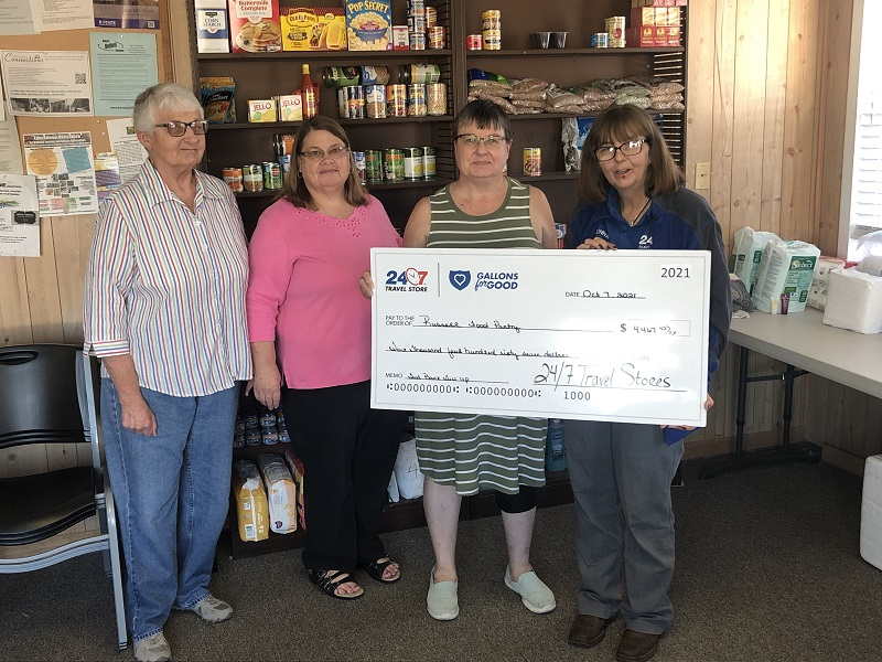 24/7 Travel Store Food Pantry Donation