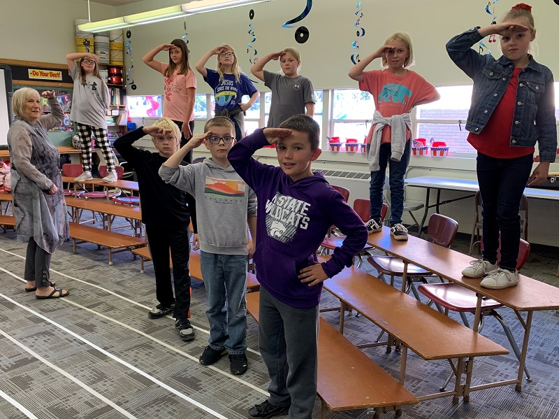 Natoma Students Preparing for 2021 Veterans Day Salute
