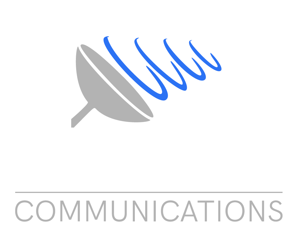 white communcation logo